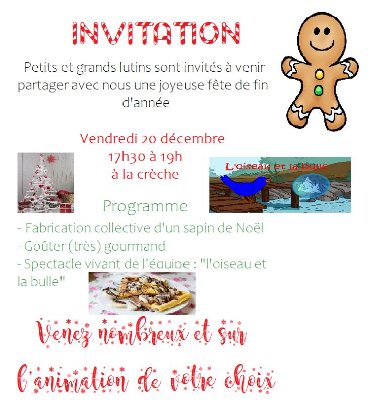 Invitation fête de fin d'année